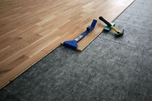 Laminate and floor preparation for installation