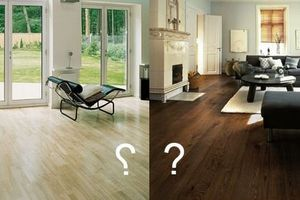 Light or dark laminate?