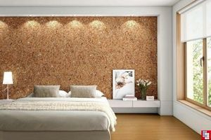 Cork wall and floor coverings