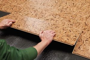 Installation of a cork floor independently